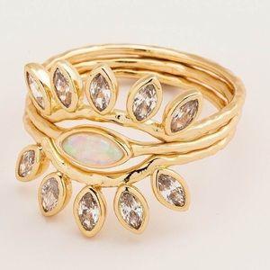 Gorjana Rumi Burst gold stackable ring set